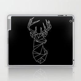 Geometric Stag (White on Black) Laptop & iPad Skin