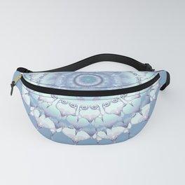 Delicate Mandala pastel ice blue Fanny Pack