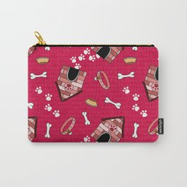 Doggy Paradise on Red Carry-All Pouch