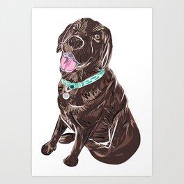 Brown Chocolate Labrador print Art Print