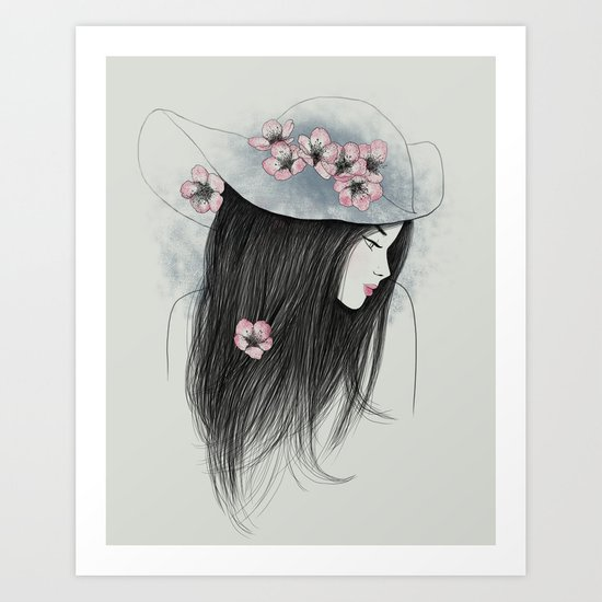 The Girl In The Garden Art Print