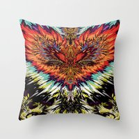 third eye Throw Pillows featuring Third Eye by FractalFox