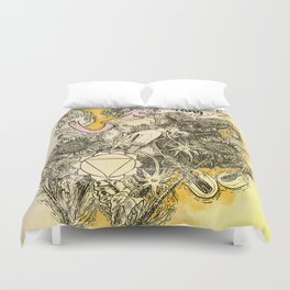 Solar Plexus Chakra - Witches of the Nine Worlds Duvet Cover