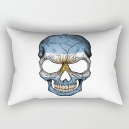 Exclusive Argentina skull design Rectangular Pillow