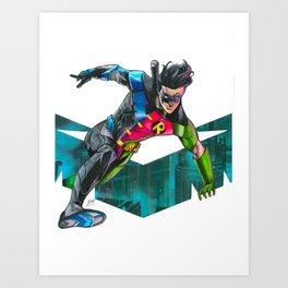 Nightwing : Robin Legacy Art Print