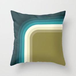 Graphic 876 // Cool & Drab Bend Throw Pillow