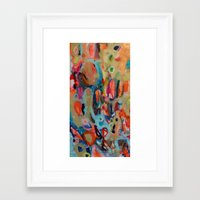 theatre Framed Art Prints featuring theatre by sylvie demers