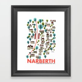 Narberth Surrounded Framed Art Print