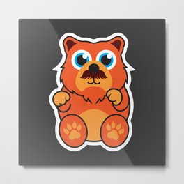 Fire Bear Metal Print