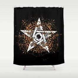 Frantic Star Shower Curtain