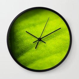 Lemon leaf Wall Clock