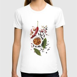 Herbs and spices selection, close up T-shirt