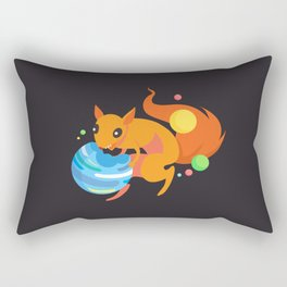 Eater of Worlds Squirrel of Doom Rectangular Pillow