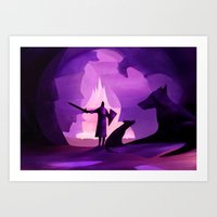 guardians Art Prints featuring Guardians by Fantasticvolk's Magical World