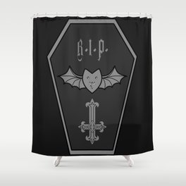 Dark Coffin Shower Curtain