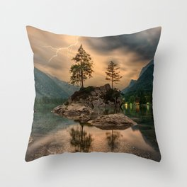 Tunderstorm is coming Throw Pillow