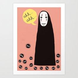 Spirited Away No Face Ahh..Ahh... Art Print
