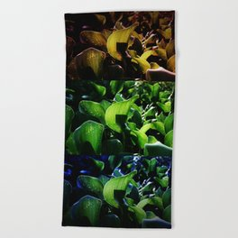 FRICTION BETWEEN THE CONTRAST Beach Towel