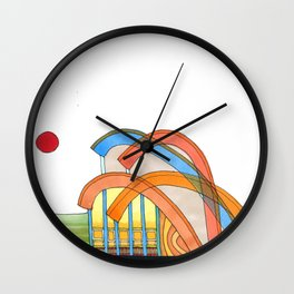 Symphony Pavilion for Outdoor Sounds 93 Wall Clock