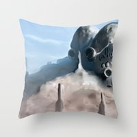 broken Throw Pillows featuring Broken by Giray Ötken