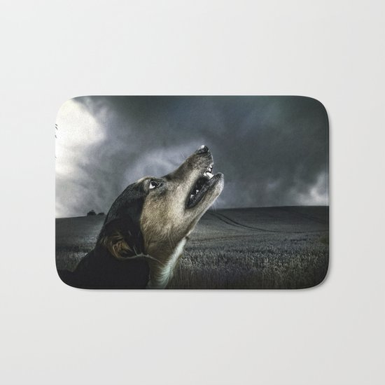 Dog moonlight 1 Bath Mat