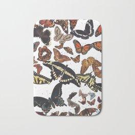 Butterflies of Maine Chart Bath Mat