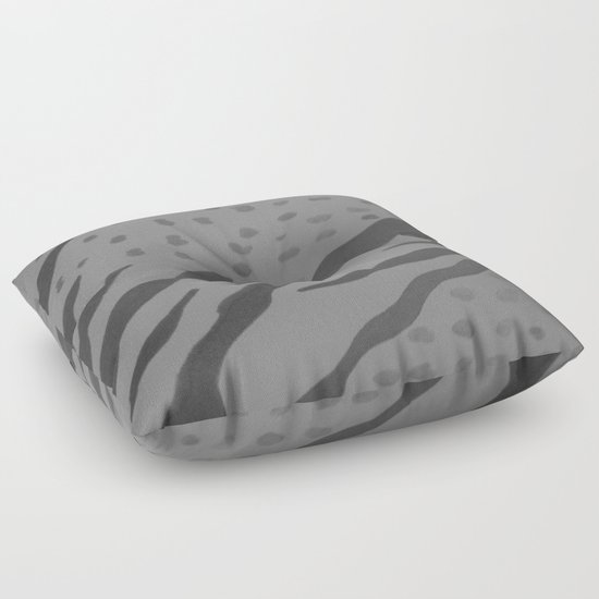Animal Print Floor Pillows : Animal Print Black and White Floor Pillow by Danielle Gensler Society6
