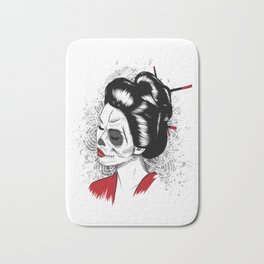 Geisha - Japanese Girl Portrait traditional Japan Woman Bath Mat