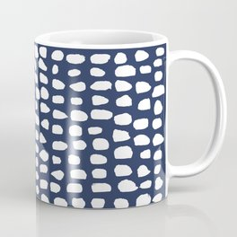 Dots / Navy Coffee Mug