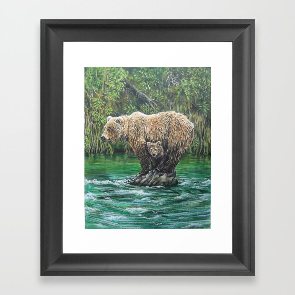 Bear Today, Gone Tomorrow? Framed Art Print by Clbletsis FRM6842120