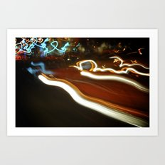 Drawing With Light.  Art Print