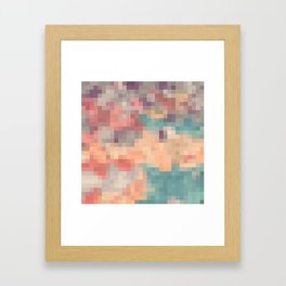 pink purple and blue pixel Framed Art Print
