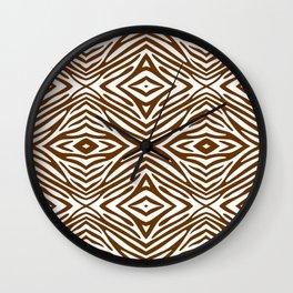 Nutmeg Neutral Zebra Wall Clock