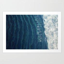 Montauk Wave break Art Print
