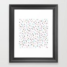 spiky tips Framed Art Print