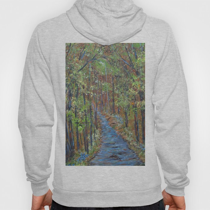 Deep in the Woods, Impressionism Landscape, Rustic Earth Tone Colors Hoody