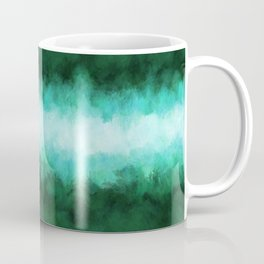 Green Forest Abstract Coffee Mug