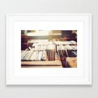 vinyl Framed Art Prints featuring vinyl by Molly Peach