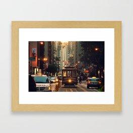 Cable car - San Francisco, CA Framed Art Print