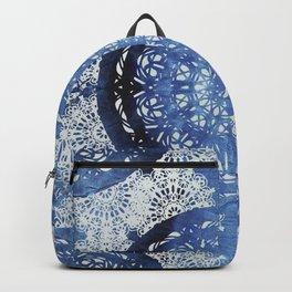 Boho Brocade Blue Mandalas Backpack