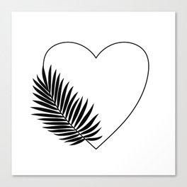 Heart Palm Canvas Print