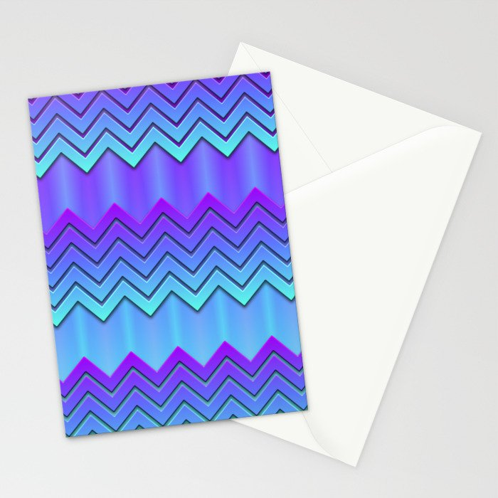 Chilly Chevrons Stationery Cards