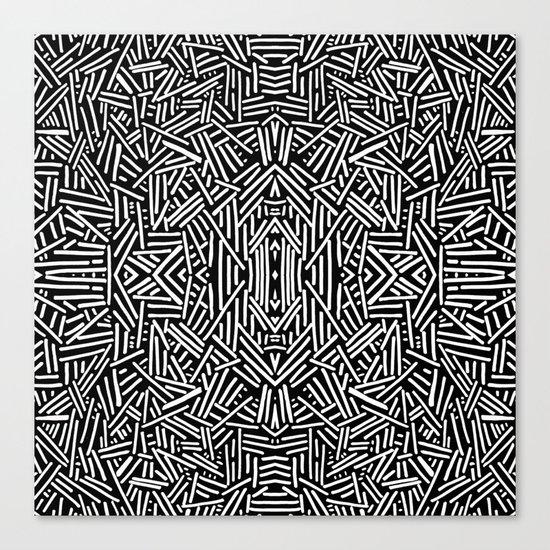 Radiate (BW) Canvas Print