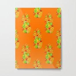 Punch Of Pineapple Metal Print