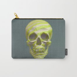Yellow pop candy skull 3D render. Carry-All Pouch