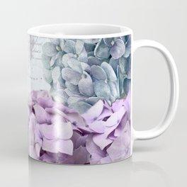 Purple Vintage Flower Hydrangea Hortensia Collage Coffee Mug