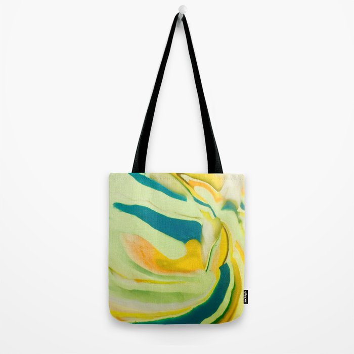 What The World Needs Now. Yellow Marble. Tote Bag