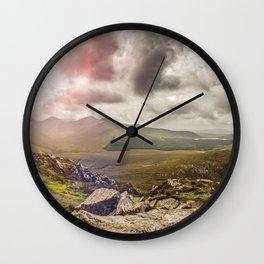 Ireland Mountain Landscape Panorama Wall Clock