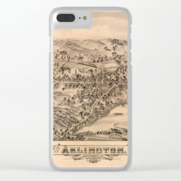 Aerial View of Arlington, Massachusetts (1884) Clear iPhone Case