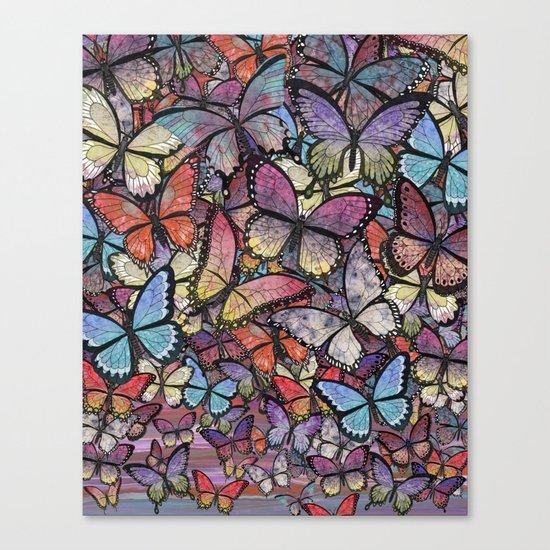 butterflies aflutter colorful version Canvas Print